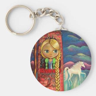 Rapunzel e o chaveiro do unicórnio