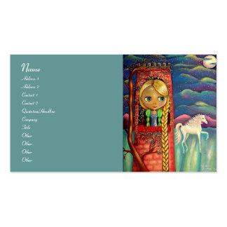 Rapunzel e unicórnio cartão de visita