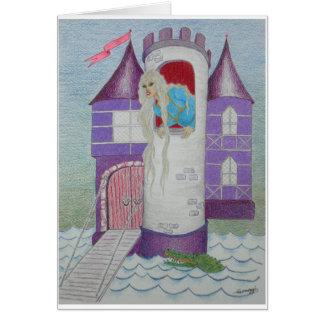 Rapunzel lunático no castelo--Orig. Arte Cartão Comemorativo