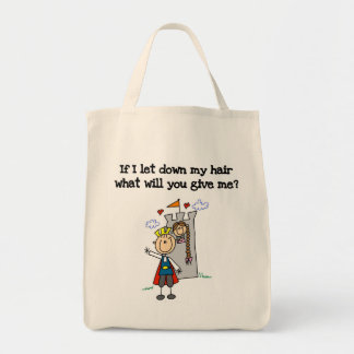 Rapunzel moderno bolsa de lona