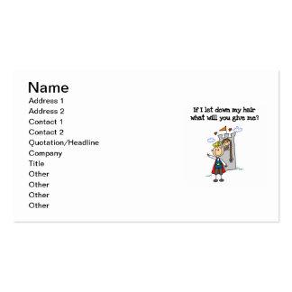 Rapunzel moderno cartão de visita