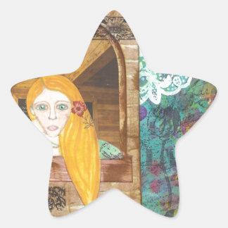 Rapunzel, sonhando adesito estrela