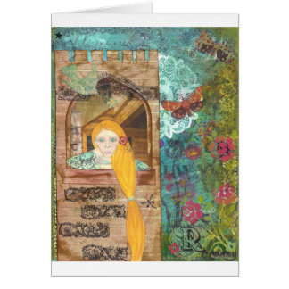 Rapunzel, sonhando cartão