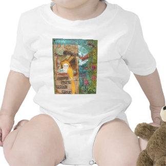 Rapunzel, sonhando macacãozinho para bebê