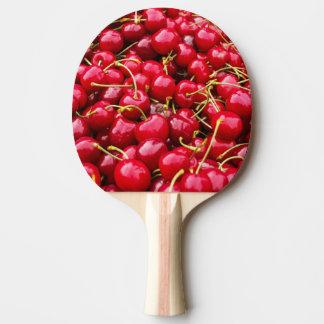 Raquete De Ping Pong a cereja vermelha bonito deliciosa frutifica