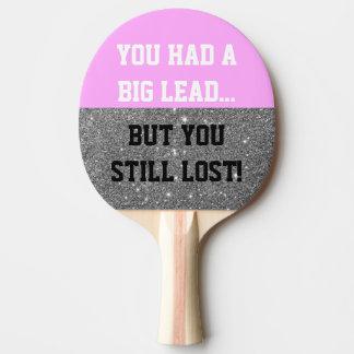 Raquete De Ping-pong A faísca engraçada Smack a pá de Pong do sibilo da