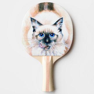 Raquete De Ping-pong Aguarela do gato Siamese