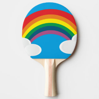 Raquete De Ping-pong arco-íris