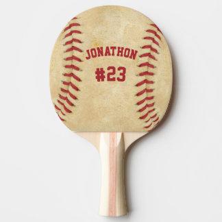Raquete De Ping-pong Basebol personalizado do nome e do número ambos os