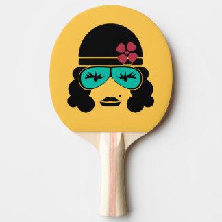Raquete De Ping-pong Bastão retro de Pong do sibilo da silhueta do