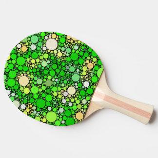 Raquete De Ping Pong Bolhas de Zazzy, verdes