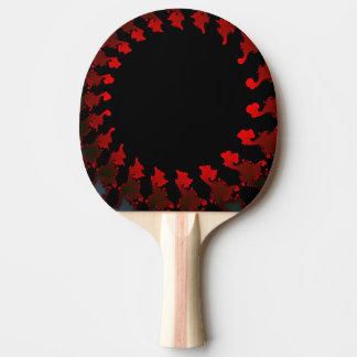 Raquete De Ping-pong Branco preto vermelho do Fractal