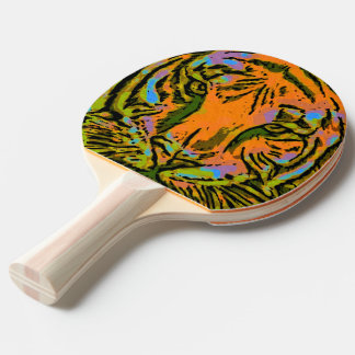 Raquete De Ping-pong CABEÇA do TIGRE do pop art + seu backgr. & ideias