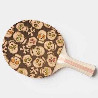 Raquete De Ping-pong cabeças engraçadas dos crânios