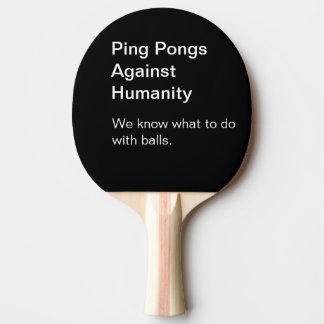Raquete De Ping Pong Canções contra a pá de Pong do sibilo da