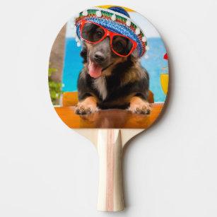 2a3941f04baf5 Equipamento de Ping-pong Cão óculos Sol   Zazzle.com.br