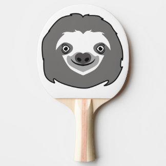 Raquete De Ping Pong Cara da preguiça