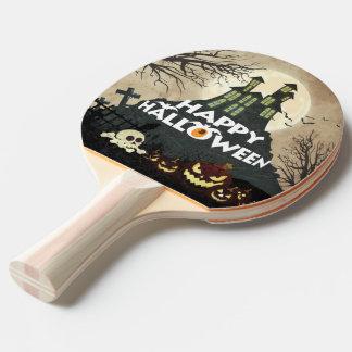 Raquete De Ping Pong Céu nocturno assombrado assustador o Dia das