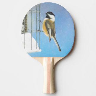Raquete De Ping Pong Chickadee no alimentador
