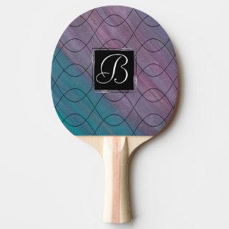 Raquete De Ping-pong Chique roxo cor-de-rosa conhecido visionário do