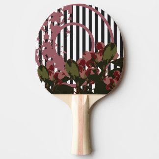 Raquete De Ping-pong Colagem da natureza da CEREJA do VINTAGE