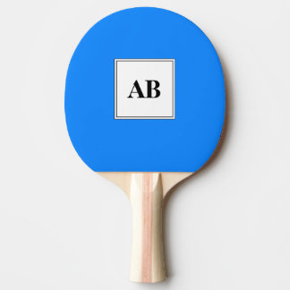 Raquete De Ping-pong Cor sólida azul Azure com monograma