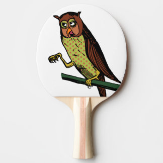 Raquete De Ping Pong coruja