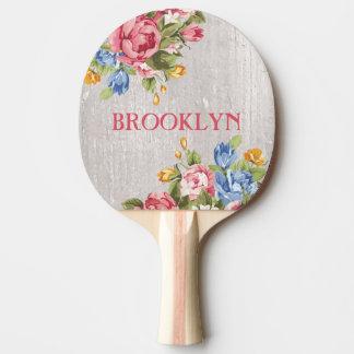 Raquete De Ping-pong Costume floral pá personalizada de Pong do sibilo