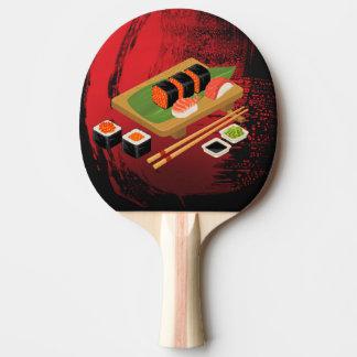 Raquete De Ping Pong Cozinheiro preto & vermelho elegante moderno
