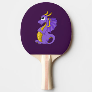 Raquete De Ping-pong Desenhos animados roxos do dragão