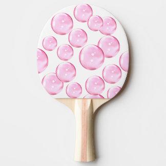 Raquete De Ping Pong Divertimento e bolhas cor-de-rosa impressionantes
