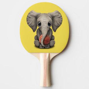 d5964b96c2db2 Raquete De Ping Pong Elefante do bebê que joga com basquetebol