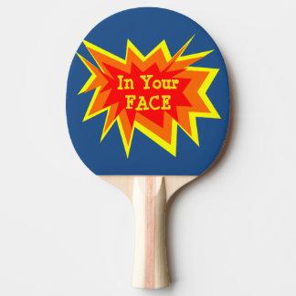 Raquete De Ping-pong Em sua pá de Pong do sibilo da cara