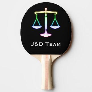 Raquete De Ping Pong Escalas de incandescência coloridas da lei | de