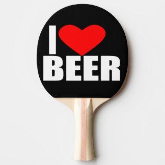 Raquete De Ping Pong eu amo a cerveja