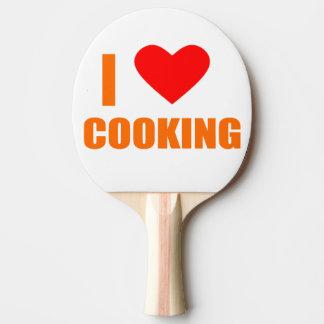 Raquete De Ping Pong eu amo cozinhar