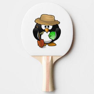 Raquete De Ping Pong Fazendeiro adorável do pinguim dos desenhos