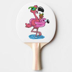 4c2c90ba688c5 Raquete De Ping Pong Flamingo do verão com óculos de sol