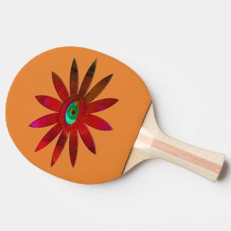Raquete De Ping-pong Flor avermelhada do olho