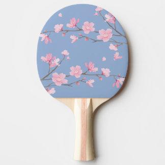 Raquete De Ping-pong Flor de cerejeira - azul da serenidade