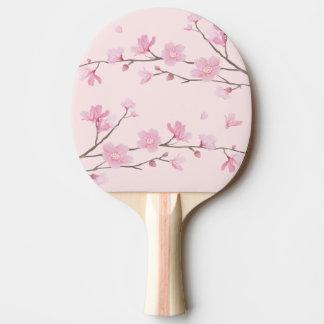 Raquete De Ping Pong Flor de cerejeira - rosa