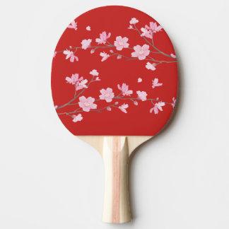 Raquete De Ping Pong Flor de cerejeira - vermelho