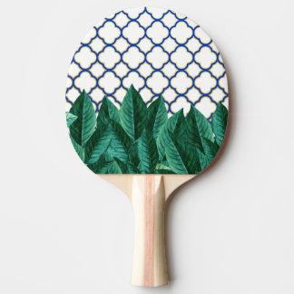 Raquete De Ping-pong Folhas e azulejos