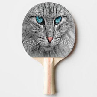Raquete De Ping-pong Foto feita sob encomenda do gato do animal de