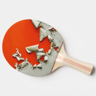 Raquete De Ping Pong fragmentos alaranjados do metal