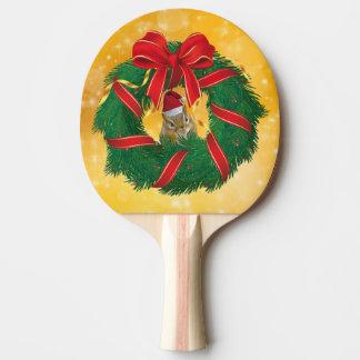 Raquete De Ping-pong Grinalda bonito do Natal do Chipmunk