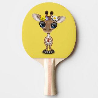 Raquete De Ping-pong Hippie bonito do girafa do bebê