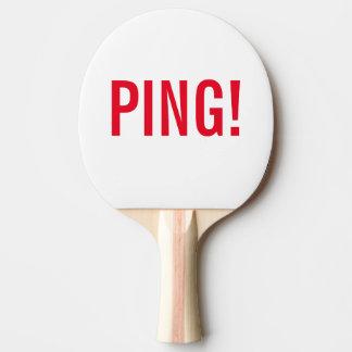 Raquete De Ping Pong Inscrição: PING! e PONG! ; Ping Pong raqueta