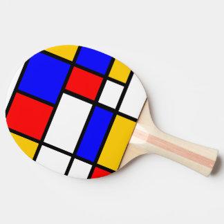 Raquete De Ping-pong Inspiração Mondrian
