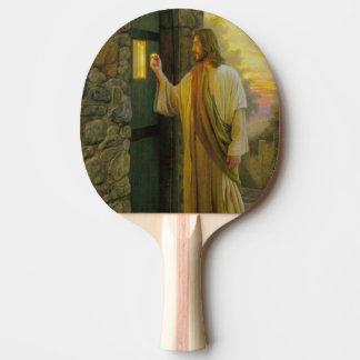 Raquete De Ping-pong Jesus em seu vintage da porta